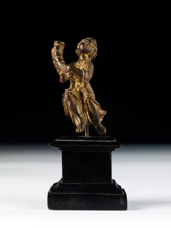 Kleines, vergoldetes Bronze-Figürchen