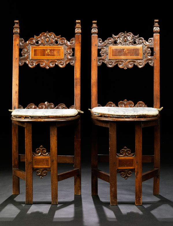 Paar Sgabelli-Stühle