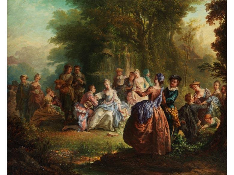 "François Louis Joseph Watteau, genannt ""Watteau de Lille"" 1758 - 1823, zug."