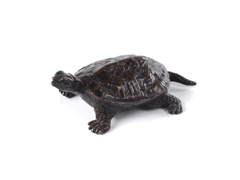 Bronzeguss einer Schildkröte