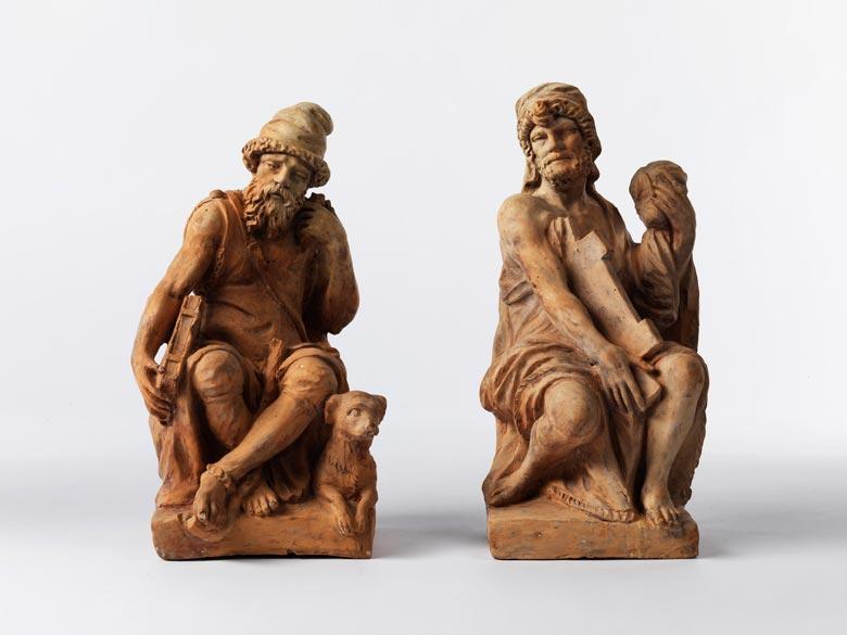 Figurenpaar in Terracotta