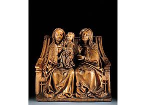 Detail images:  Seltene Darstellung des Marien-Thrones mit Mutter Anna, Maria und Maria Salome