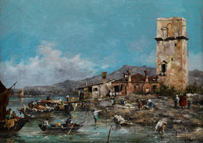 Giuseppe Ponga,1856 Chioggia - 1925 Venedig, zug.