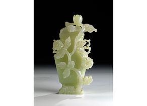 Detail images:  Jade-Deckelvase