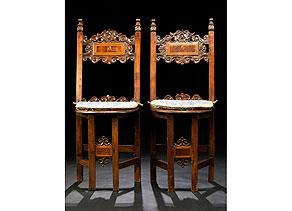 Detail images:  Paar Sgabelli-Stühle