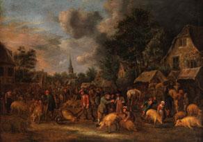 Detail images:  Claes Molenaer, um 1630 - 1676 Haarlem