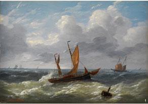 Detail images:  Louis Charles Verboeckhoven, 1802 Warneton - 1889 Brüssel, zug.