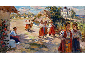 Detail images:  Schlegel, Ukrainischer Maler des 20. Jahrhunderts