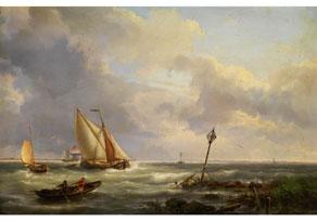 Detail images:  Hermanus Koekkoek d. Ä., 1815 Middelburg - 1882 Haarlem
