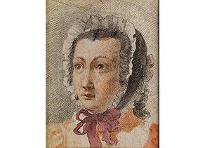 Detail images:  François Hubert Drouais, 1727 - 1775, zug.