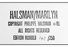 Detail images: † Philippe Halsman, 1906 Riga - 1979 New York