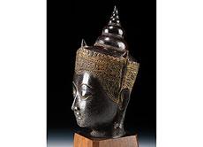 Detail images: Buddha-Kopf in Bronze