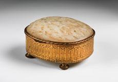 Detail images: Vergoldetes Kästchen mit Jade-Deckel