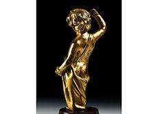 Detail images: Bronzefigur eines Putto