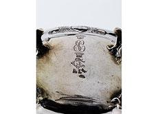 Detail images: Rokoko-Zuckerdose mit Scharnierdeckel