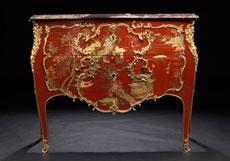 Detail images: Bedeutende und seltene Louis XV-Lackkommode mit Chinoiserie-Dekor von Mathieu Criaerd