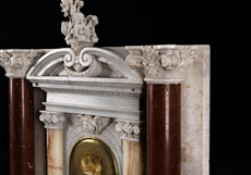 Detail images: Marmor-Tabernakel im Renaissance-Stil