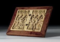 Detail images: Gotisches Elfenbein-Diptychon