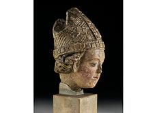 Detail images: Kopf eines heiligen Bischofs