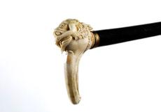 Detail images: Stock mit Elfenbein-Griff