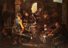 "Detailabbildung: Giacomo Francesco Cipper, genannt ""Il Todeschini"" 1670 Feldkirch - 1738 Mailand, zug."