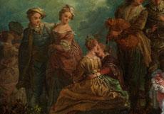 """Detail images: François Louis Joseph Watteau, genannt """"Watteau de Lille"""" 1758 - 1823, zug."""
