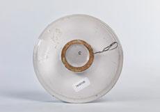Detail images: Kleine Fayence-Platte mit bekrönter Wappenkartusche