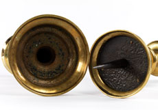 Detail images: Paar gotische Scheibenleuchter