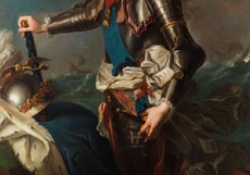 Detail images: Jean Marc Nattier, 1685 Paris - 1766
