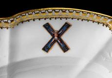 "Detail images: Bedeutende Meißener Vorlegeplatte aus dem ""Sankt Andreas-Service"""