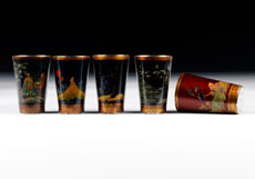 Detail images: Fünf Wodkabecher
