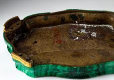 Detail images: Malachit-Schreibgarnitur