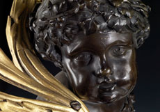 Detail images: Paar figürlich gestaltete Kaminkandelaber