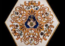 Detail images: Salon-Tisch mit Pietra Dura-Platte
