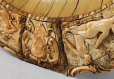 Detail images: Große Elfenbein-Prunkschale
