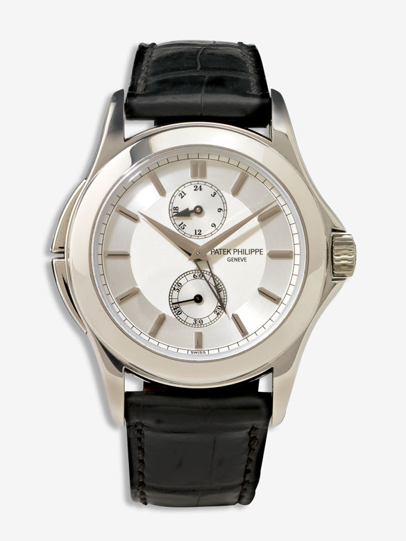 Herrenarmbanduhr Patek Philippe Calatrava Travel Time Platin