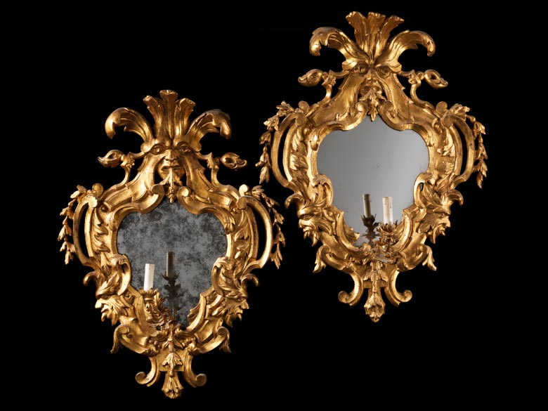 Paar barocke Wandspiegel