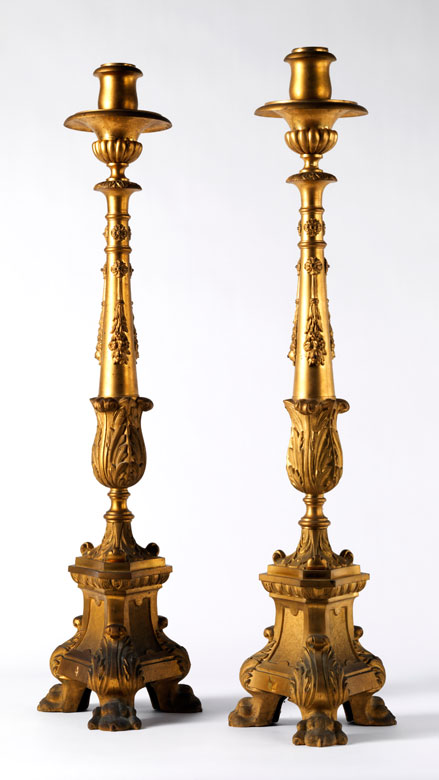 Paar große Altarleuchter
