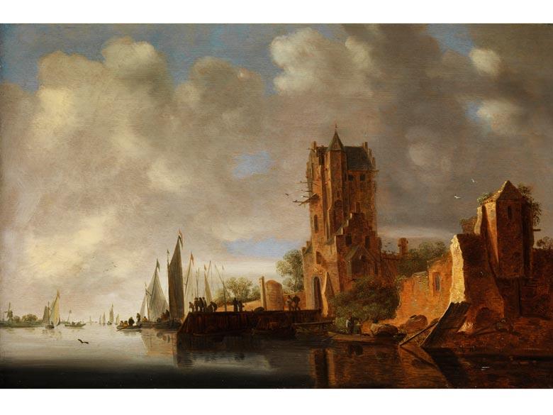 Wouter Knijff, 1607 Wezel - nach 1693 Bergen op Zoom, Maler im Umkreis des Jan van Goyen, zug.