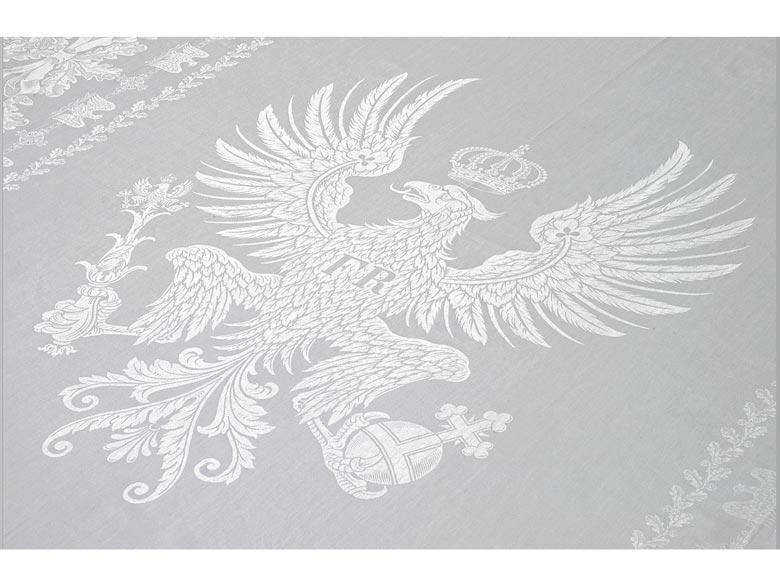 Bankett-Tafeltuch aus dem ehemaligen Besitz Kaiser Wilhelm II., 1859 -1941