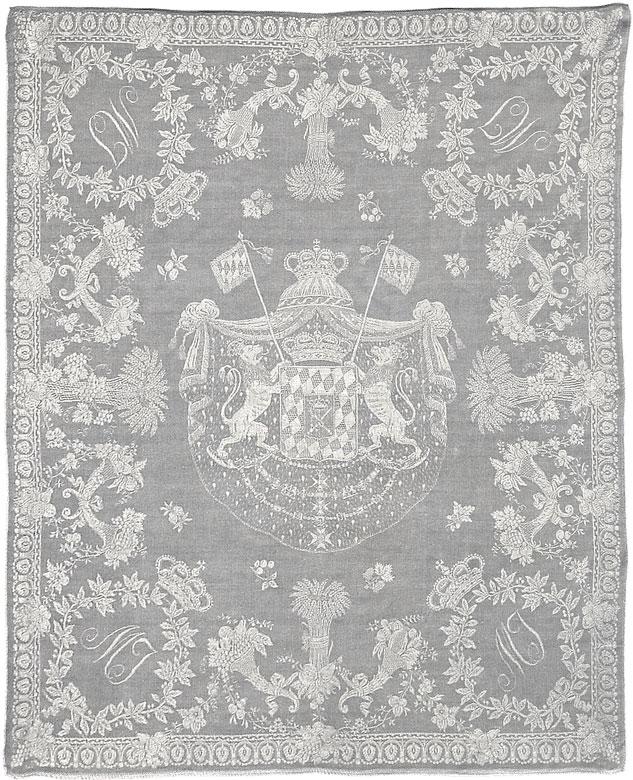 Mundtuch aus dem ehemaligen Besitz des Königs Maximilian I. Joseph von Bayern, 1756 - 1825