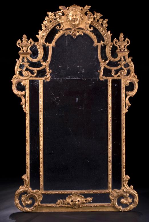 Großer vergoldeter Régence-Spiegel