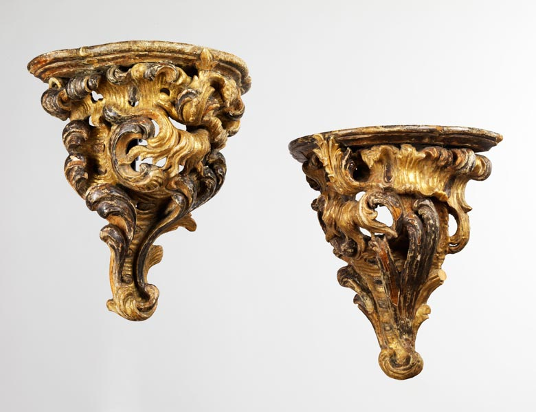 Paar Rokoko-Wandkonsolen