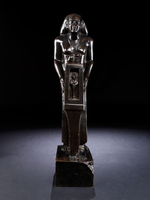 Bronzefigur eines ägyptischen Beamten