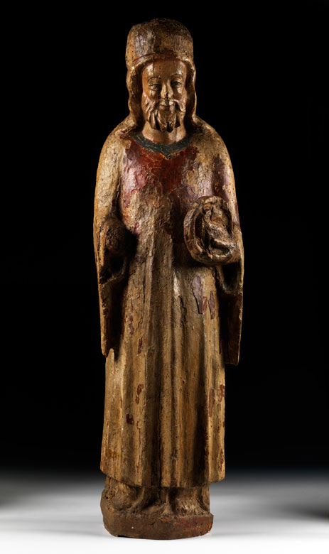Schnitzfigur des Heiligen Johannes Baptist
