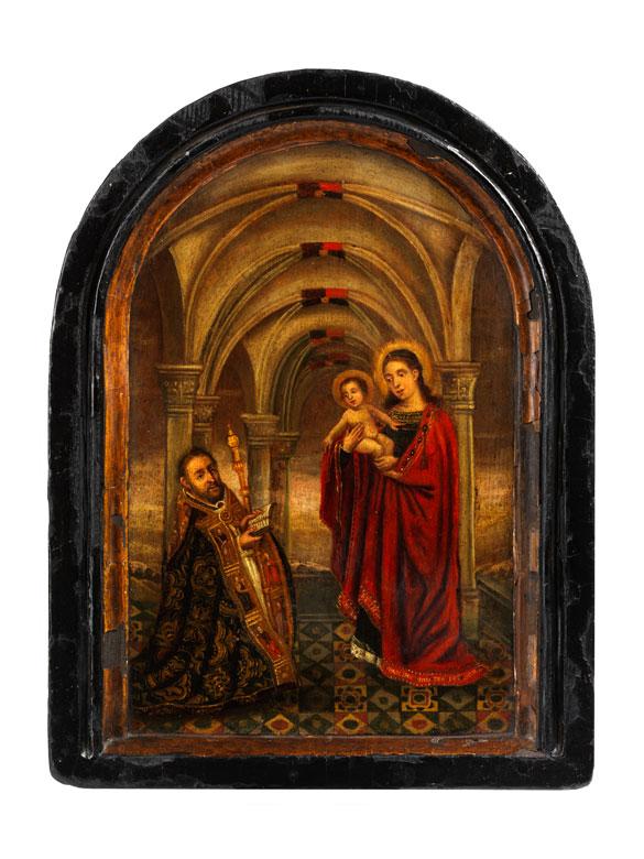 Tafelbild mit Darstellung der Anbetung der Heiligen Maria