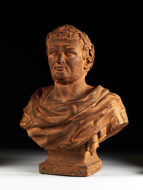 Terrakotta-Büste des römischen Kaisers Vespasian