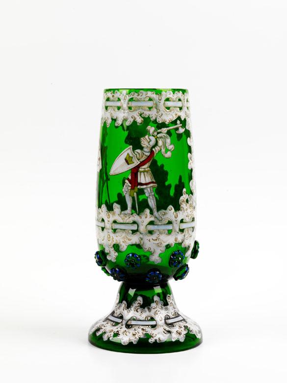 Historistischer Glaspokal von Anton Amros Egermann/ Heida