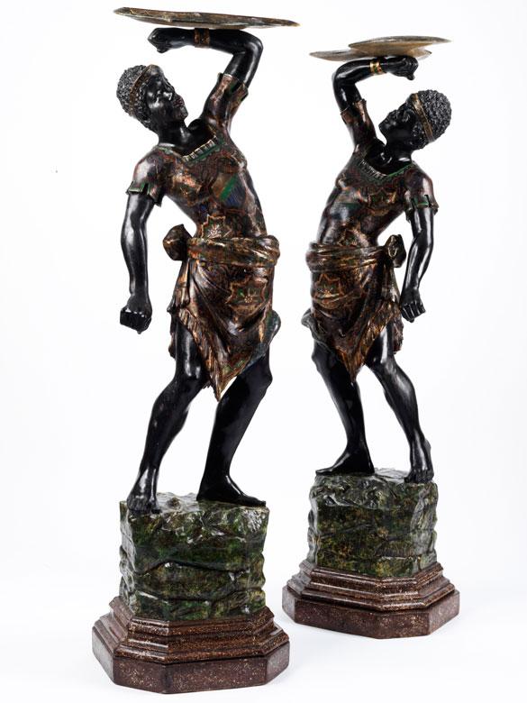 Paar Mohrenfiguren