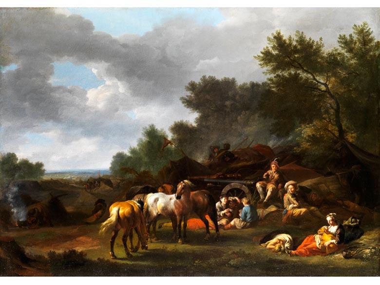 Pieter Wouwerman, 1623 Haarlem - 1682 Amsterdam, zug.